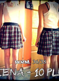 Kup mój przedmiot na #vintedpl http://www.vinted.pl/damska-odziez/spodnice/10072949-spodnica-w-krate-czerwony-bialy-czarny