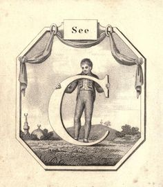 """See"" (C) ~ Vintage Children's ABC Flash Card"