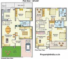 Model House Plan, My House Plans, Duplex House Plans, Bungalow House Plans, Family House Plans, House Floor Design, Duplex House Design, Cool House Designs, Building Design Plan