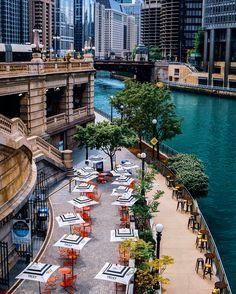 Beat Kitchen on the Riverwalk - Beat Kitchen Monuments, Chicago Riverwalk, The Second City, Waterfront Restaurant, Chicago Travel, River Walk, Beats, Urban, Architecture