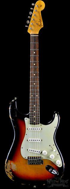 "Fender 1962 Stratocaster Rosie ""V"" Heavy Relic Three Tone Sunburst - Wild West Guitars"