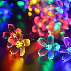 16ft 20 LED Multi-color Solar Powered Fairy String Lights Blossom Decorative Gardens, Lawn, Patio, Christmas Trees, Weddings, Parties, Halloween Lights Decoration, Indoor and Outdoor Use (Multi-color) EShing http://www.amazon.ca/dp/B018AJR1KY/ref=cm_sw_r_pi_dp_Zofzwb1W0R1YM