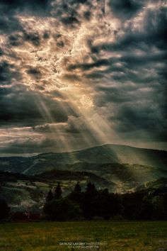 Sunbeams Through the Clouds