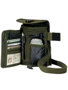 Rothco's Canvas Travel Portfolio Bag Is Made Of Heavyweight Cotton Canvas And Features A Nylon Lined, Large Main Compartment With Hidden Map/Document Pouch. The Travel Portfolio Bag Also Has Compartments To Hold Credit Cards, Pens, Mobile Phones And More. Mochila Edc, Abilene Boots, Edc Bag, Cheap Crossbody Bags, Steel Toe Boots, Best Bags, Tactical Gear, Travel Bag, Survival Skills