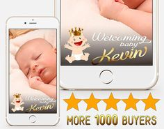 CUSTOM Baby Shower Snapchat Crown geofilter Gold Baby foot
