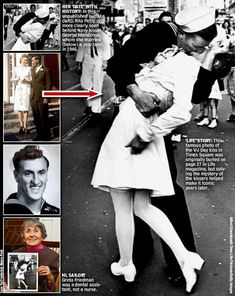 The true story behind the iconic V-J Day sailor and 'nurse' smooch - There's another person in the frame, one nobody even knew to look for, who makes the image that much more poignant: Rita Petry, the future wife of that sailor, George Mendonsa. (headframe standing behind him)