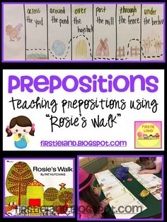 Learning about Prepositions with the book Rosie's Walk - K-2 - firstieland.blogspot.com