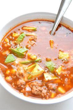 Turkey Taco Soup Recipe on Yummly V8 Juice, Soup Recipes, Healthy Recipes, Yummy Recipes, Recipies, Ground Turkey Tacos, Soup Crocks, Hot Soup, Taco Soup