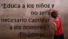 Frase+Pitagoras+Educacion+niños
