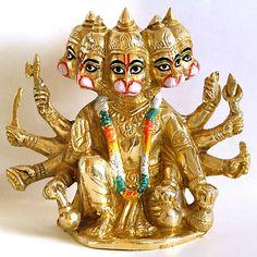 Panchmukhi Hanuman - Brass Statue