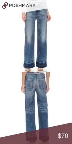 Rag and Bone/Jean the loose fit Wide Leg Jean Rag & Bone/JEAN wide-leg jeans with industrial-inspired distressing. 5-pocket styling. Single-button closure and zip fly. rag & bone Jeans
