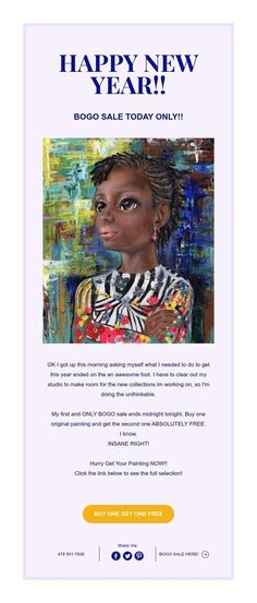 HAPPY NEW YEAR!! Abstract Portrait Painting, Bogo Sale, Happy New Year, How To Get, Happy Year, Happy New Year Wishes