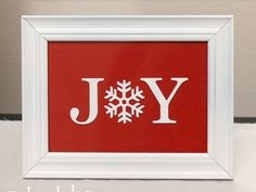 """($2.50)+JOY+vinyl+lettering+in+white.+2""""x5""""+(fits+perfectly+in+a+4x6""""+frame)+-Decals+work+best+on+smooth,+clean+surfaces.+-They+are+removable,+but+not+reusable.+Will+be+shipped+in+a+regular+envelope+with+a+piece+of+cardboard+for+protection.+Comes+with+easy+application+instructions.+*Price+includes+shipping!+All+items+are+lovingly+made+in+my+pet+and+smoke+free+home.+Thanks+so+much+for+stopping+by!!"""