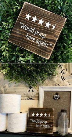 Hahaha stars for the bathroom! Would poop here again wood sign funny bathroom decor funny housewarming gift idea farmhouse decor rustic decor primitive sign home decor - March 09 2019 at Funny Bathroom Decor, Bathroom Humor, Bathroom Ideas, Bathroom Wall, Rustic Bathroom Decor, Signs For Bathroom, Modern Bathroom, Bathroom Sayings, Kmart Bathroom
