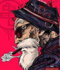 Master Roshi (Dragon Ball) (c) Toei Animation, Funimation & Sony Pictures Television Desenho Tattoo, Dope Art, Graffiti Art, Cartoon Art, Dragon Ball Z, Cyberpunk, Character Art, Illustration, Fantasy Art