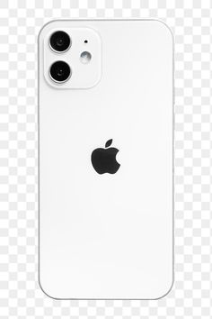 Download free png of White Apple iPhone 12 png phone rear view mockup.