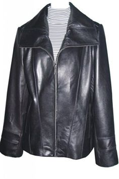 """Product review for Paccilo Big and Tall Women 4042 PLUS & ALL SIZE Lambskin Real Leather Jacket.  - Zipper Front, Big Peterpan Collar, Silky Lined, No Insulation, Silky Feel Pocket Lining. Not all leather is the same. When vendors say or state, """"leather or genuine leather"""", they generally use """"pig skin"""", which is the worst quality of leather and therefore inexpensive. If..."""
