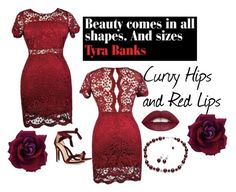 """""""Curvy Hips and Red Lips"""" by lena-kontos ❤ liked on Polyvore featuring Alexandre Birman"""