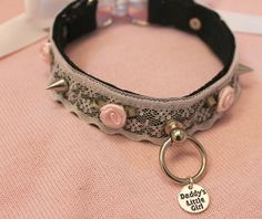 ❤Kawaii Love❤ ~Daddy's little girl Slave Collar, Collar And Leash, Daddys Little Girls, Daddys Girl, Dom And Subs, Kittens Playing, Rose Lace, Little Pets, Kinky