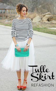 DIY Tulle Skirt Refashion