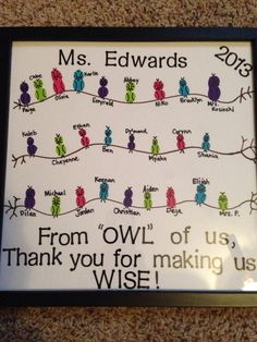 Student teacher gift- owl theme