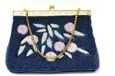 Darling vintage floral beaded purse in blue by SeeingEyeToEye, $40.00