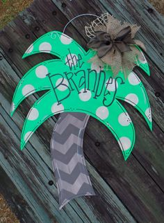 Hey, I found this really awesome Etsy listing at https://www.etsy.com/listing/179455057/palm-tree-door-hanger-hand-painted