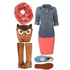 """I just love this purse!!! And yes, the scarf has owls too. <3"" by pentecostalpretty on Polyvore"