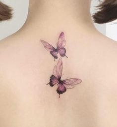 Butterflies on back by Flower