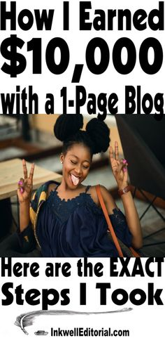 This post details how one blogger earned over $10,000 with a 1-page blog -- in just 2 months! It includes a step-by-step plan to show you how to make money in affiliate marketing with mini blogs and/or niche minisites. You can literally be set up and earning within a few hours.   how to make money blog   Make money with minisites   Make money with mini blogs #MakeMoneyBlogging #BloggingTips #AffiliateMarketing (via @InkwellEditor for InkwellEditorial.com)