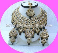Indian Wedding Bridal Jewellery Necklace Earrings Maang Tikka Set. NP-04