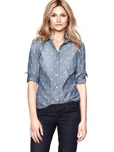dotted button-up from gap