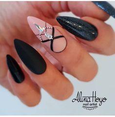 and Beautiful Nail Art Designs Nail Art Designs, Nail Designs Pictures, Simple Nail Designs, Nails Pictures, Stiletto Nails, Toe Nails, White Nails, Pink Nails, Gothic Nails
