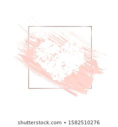Similar Images, Stock Photos & Vectors of Abstract pink brush background with rectangle geometric frame rose gold color. Logo background for beauty and fashion - 1316150948 Brush Background, Vector Background, Rose Gold Aesthetic, Instagram Highlight Icons, Rose Gold Color, Brush Strokes, Pastel Colors, Tapestry, Illustration