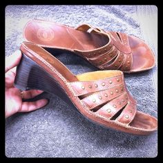 $15 Christmas Special: Nurture sandals  Very comfy brown leather sandals with studs  Nurture Shoes Sandals