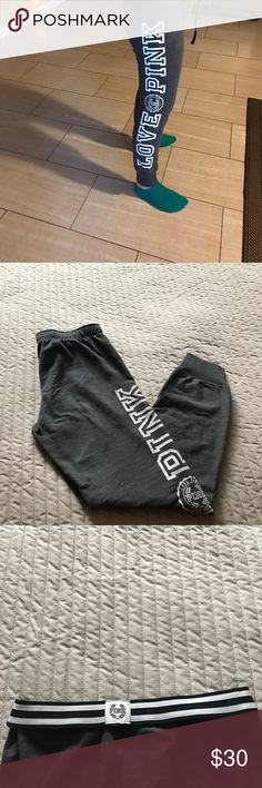 NWOT Victoria's Secret Pink Sweatpants These are still new. I bought them for $59.95 but never wore them. Will consider all offers and bundle :) PINK Victoria's Secret Pants Track Pants & Joggers