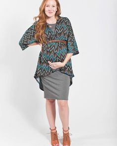 """LuLaRoe's """"simple, comfortable"""" pieces are great for ALL stages in life - even pregnancy. Try layering a Julia dress then wrap and belt a Lindsay kimono up high. Cute for maternity or not! LuLaRoe"""