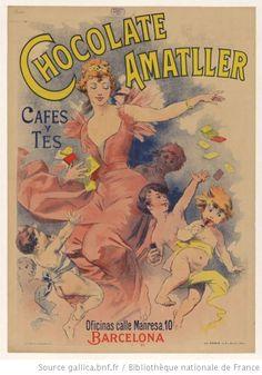 Chocolate Amatller, cafes y tes. Oficinas calle Manresa, 10, Barcelona. : [affiche] / [non identifié] - 1893