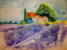 Lavender, watercolor