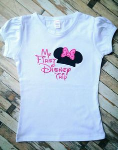 My First Disney Trip Shirt by LillysBowtique on Etsy, $20.00 - Grace's Shirt: we're adding the year inside the ears & bringing colorful sharpies for the cast members to sign.