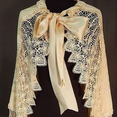 Victorian lace & wool embroidered cape available @ebay #371640609568 #vintagelove #lace #embroidery #victorian #vintagecape #bridal #wedding #cape #cloak #vintagefashion #picoftheday