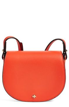 001489992191 Tory Burch 'Mini' Leather Saddle Bag available at #Nordstrom Leather Saddle  Bags,