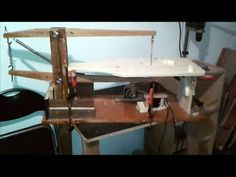 home made scroll saw - YouTube