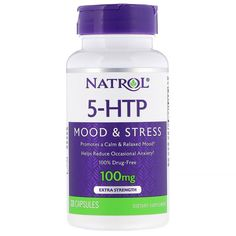 Natrol, Extra Strength, 100 mg, 30 Capsules - iHerb 5 Htp, Serotonin Levels, Appetite Control, Drug Free, Sports Nutrition, Nutritional Supplements, Homeopathy, Amino Acids, Migraine