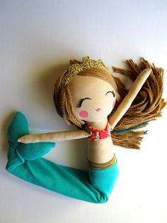 Custom Cloth Mermaid Doll by Mend