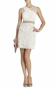 Bcbg Jaya Pleated Sleeveless Dress White