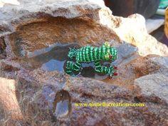 3D Beaded Poison Frog