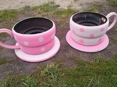 Re-purposed tires