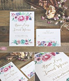Bohemian Garden Wedding Invitation available at elli.com
