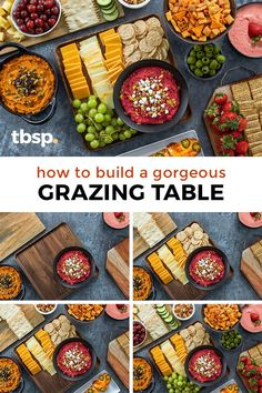 A pretty grazing table is exactly what you need to take your party from good to great. Find out our favorite hacks, tips and tricks to being the host with the most delicious food. Cheese Appetizers, Appetizer Recipes, Appetizer Ideas, Delicious Food, Tasty, Pumpkin Hummus, Beet Hummus, Good To Great, Grazing Tables